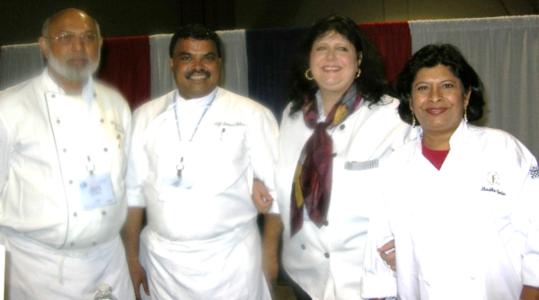 Chef Walter D' Rosario, Chef Hemant Mathur, Marlisa Brown RD, and Madhu at AAPI Annual Conference.