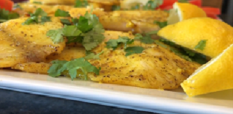 curried black pepper fish