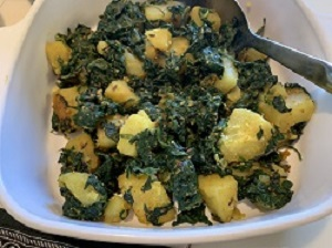 View post titled Spinach Potatoes Vegetable (Aloo Palak Subji)